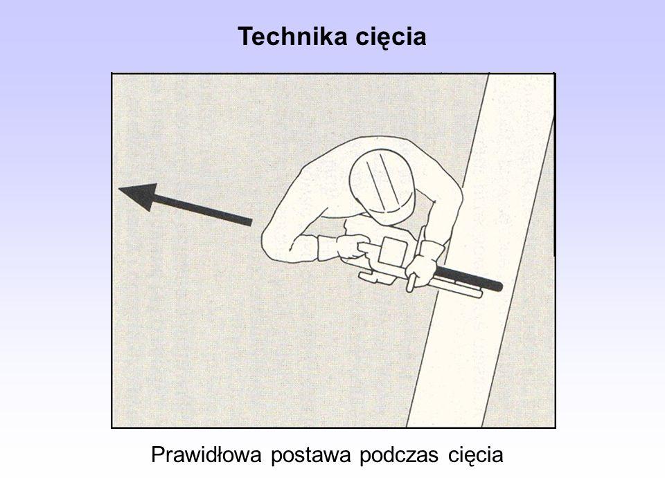 Prawidłowa postawa podczas cięcia Technika cięcia