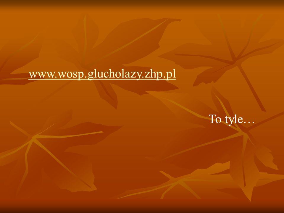 www.wosp.glucholazy.zhp.pl To tyle…