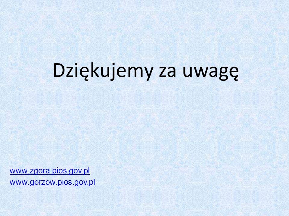 Dziękujemy za uwagę www.zgora.pios.gov.pl www.gorzow.pios.gov.pl