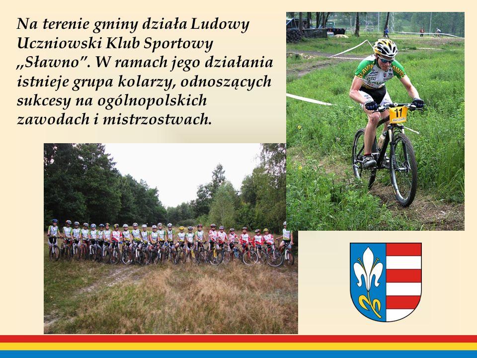 Na terenie gminy działa Ludowy Uczniowski Klub Sportowy,,Sławno.