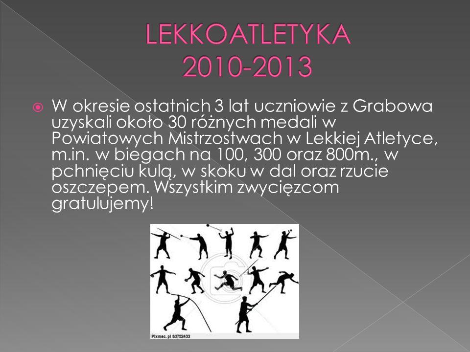 W okresie ostatnich 3 lat uczniowie z Grabowa uzyskali około 30 różnych medali w Powiatowych Mistrzostwach w Lekkiej Atletyce, m.in. w biegach na 100,