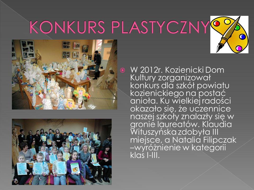 W 2012r. Kozienicki Dom Kultury zorganizował konkurs dla szkół powiatu kozienickiego na postać anioła. Ku wielkiej radości okazało się, że uczennice n
