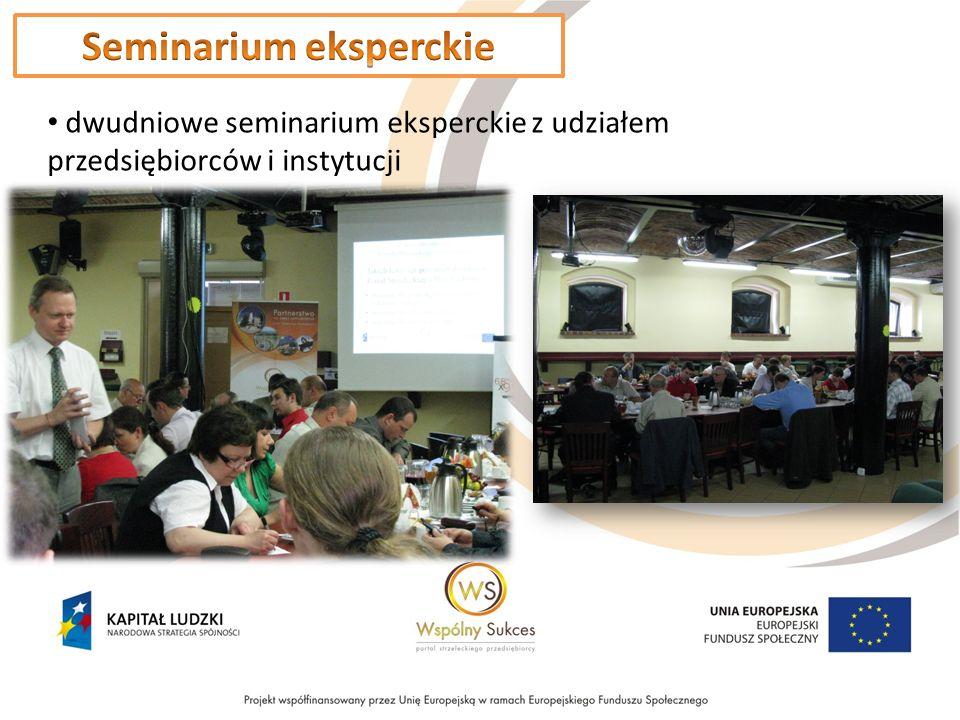 dwudniowe seminarium eksperckie z udziałem przedsiębiorców i instytucji