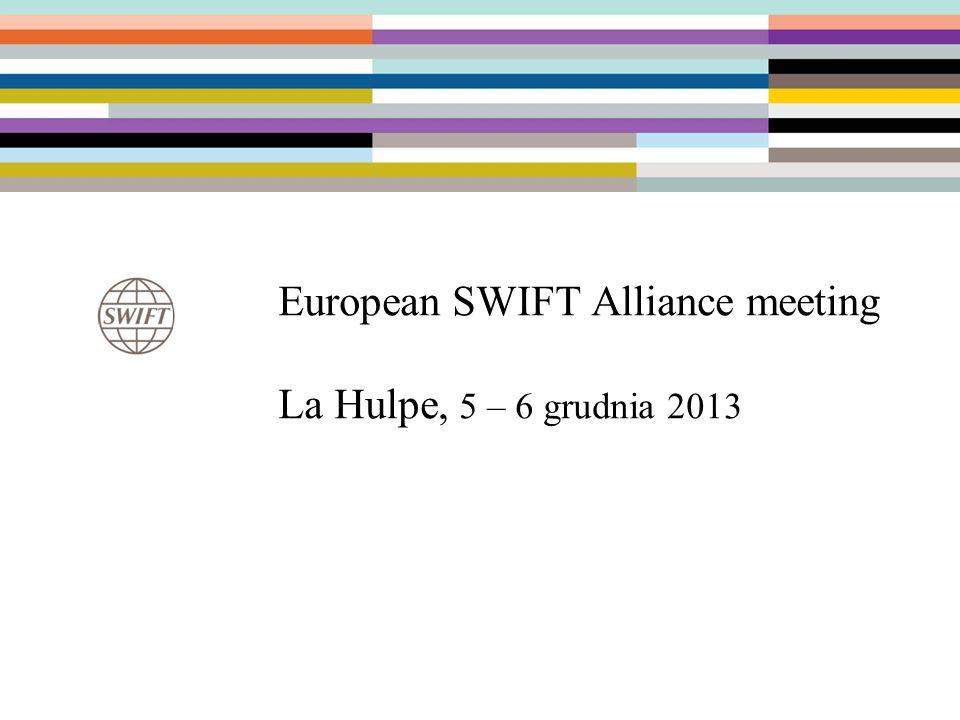 14 Współpraca ze SWIFT Udział w spotkaniu Chairpersons i konferencji Sibos 2013 (Dubaj), które odbyły się w dn.
