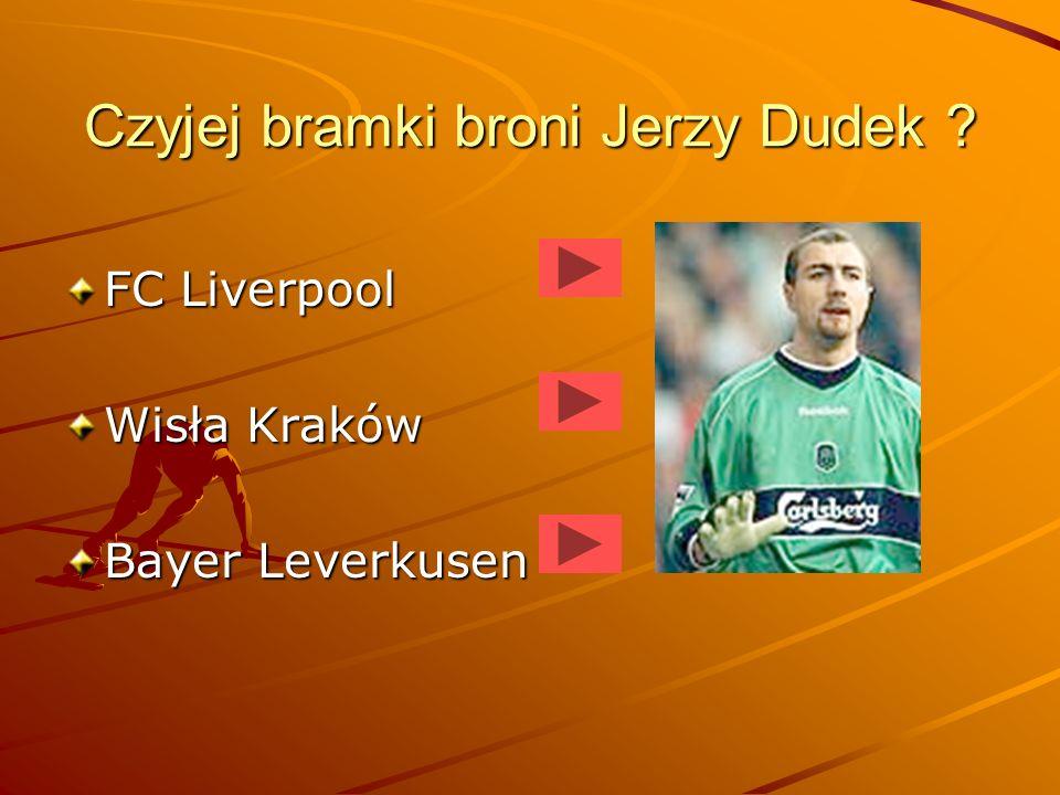 Dla jakiego klubu strzela gole Jacek Krzynówek ? Legia Warszawa Energie Cottbus Bayer Leverkusen