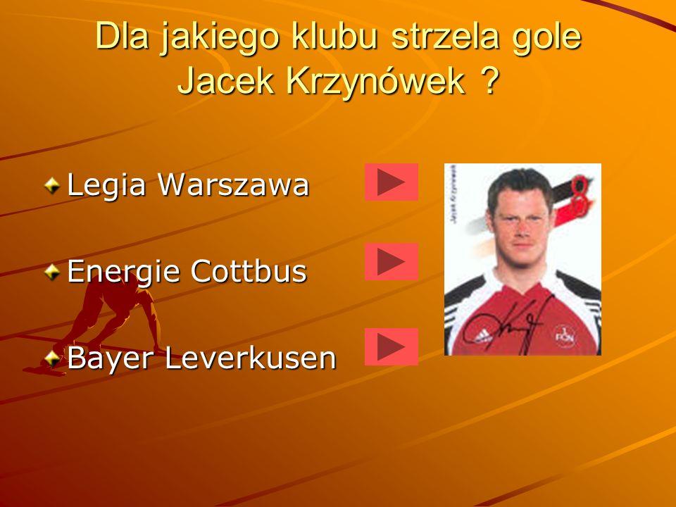 Jaka drużyna jest mistrzem Polski w sezonie 2004/2005 ? Wisła Kraków Legia Warszawa Groclin