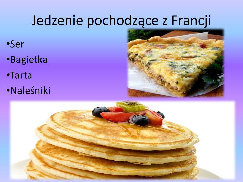 Jedzenie pochodzące z Francji Ser Bagietka Tarta Naleśniki