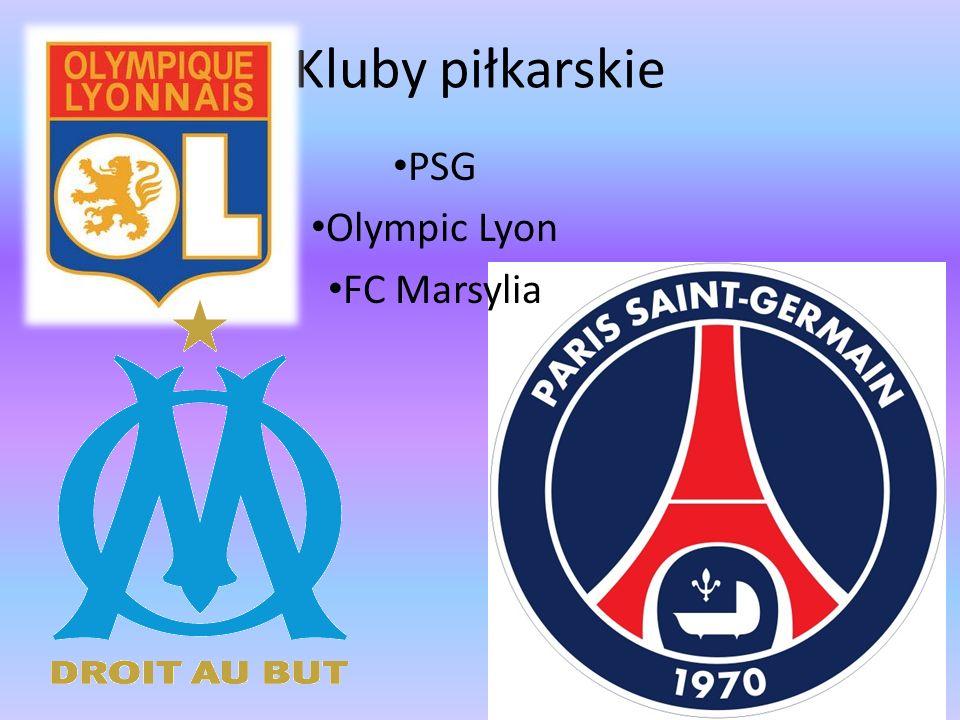 Kluby piłkarskie PSG Olympic Lyon FC Marsylia