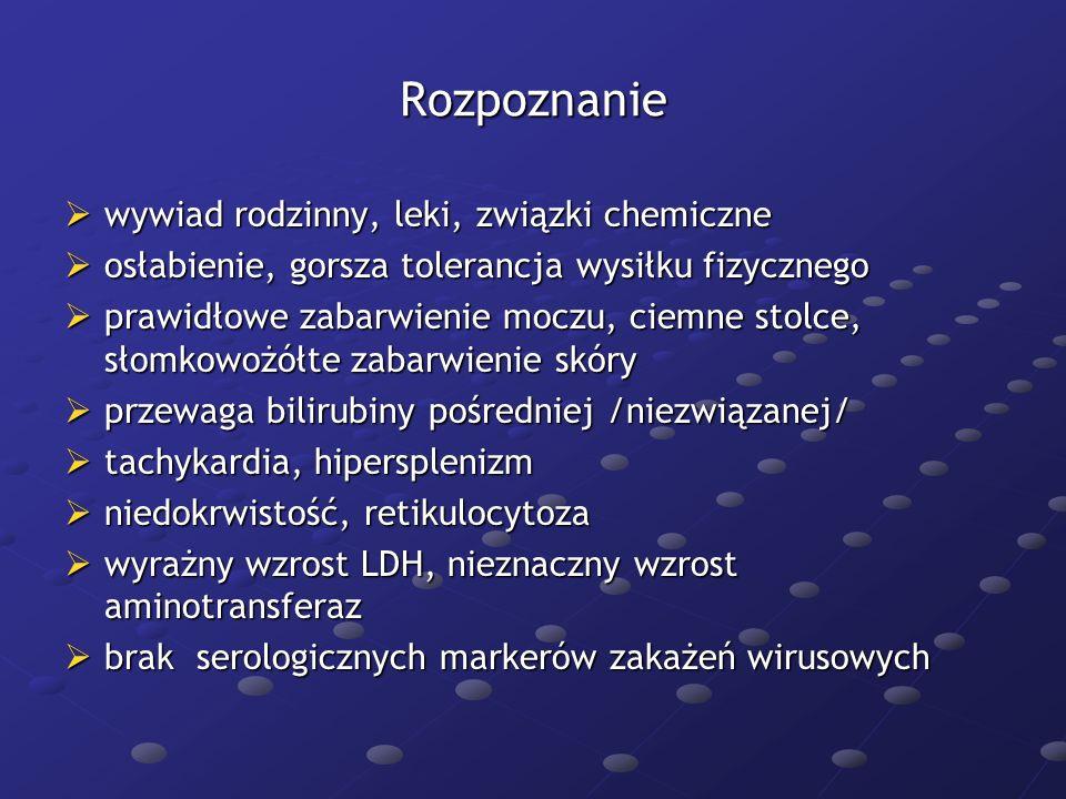 Żółtaczka miąższowa Infekcyjna Infekcyjna -wirusowe: HAV, HBV, HCV, HDV, HEV, CMV, EBV -bakteryjne: choroba Weila -Leptospira icterohaemorrhagica, cholangiohepatitis -Enterobacteriacae, Enterococci, Bacteroides, Clostridium sp., posocznica Toksyczna Toksyczna -Alkohol -leki- cytostatyki, paracetamol, statyny, hormony płciowe -związki chemiczne- czterochlorek węgla -grzyby- muchomor sromotnikowy- Amannita phalloides