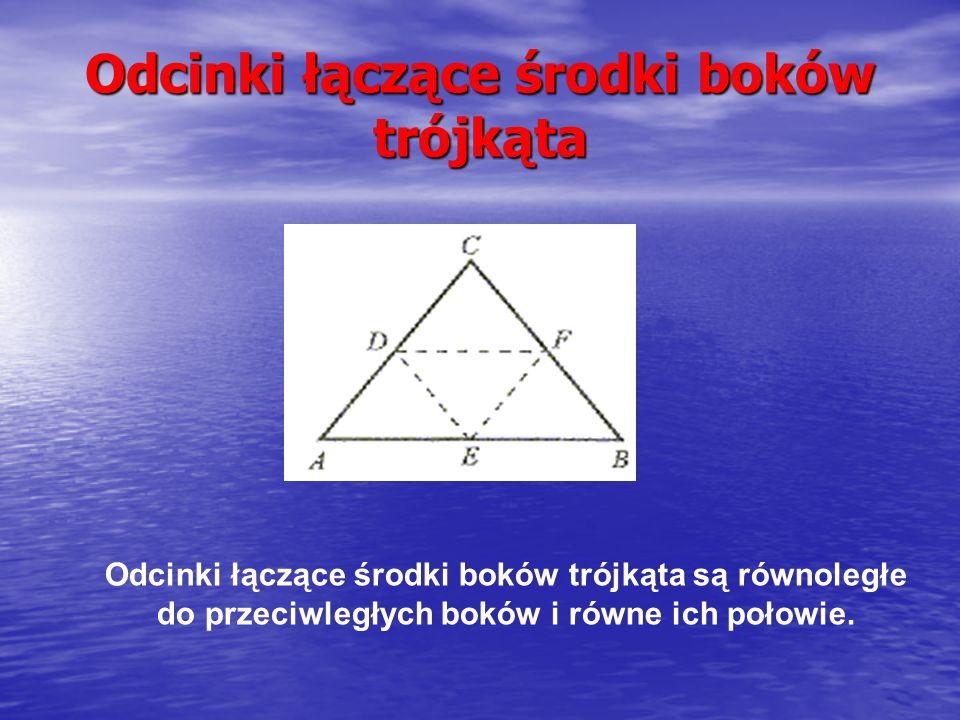 Dwusieczne k ą tów trójk ą ta Dwusieczna kąta jest to półprosta dzieląca kąt na połowy.