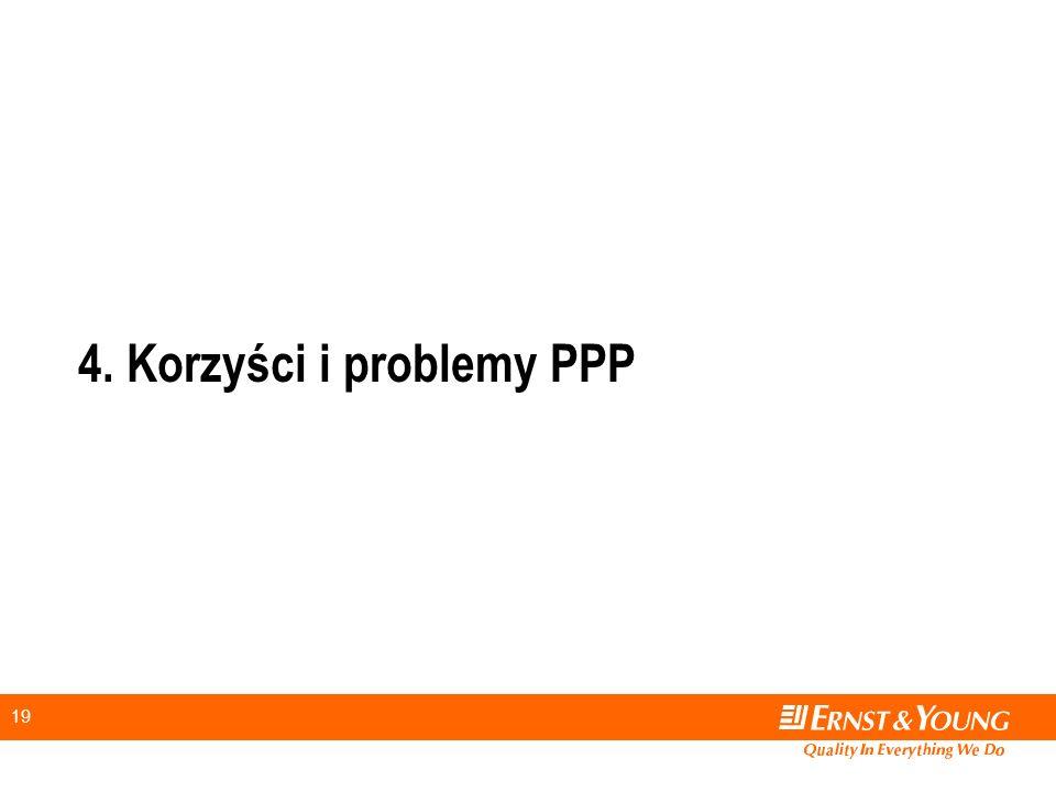 19 4. Korzyści i problemy PPP