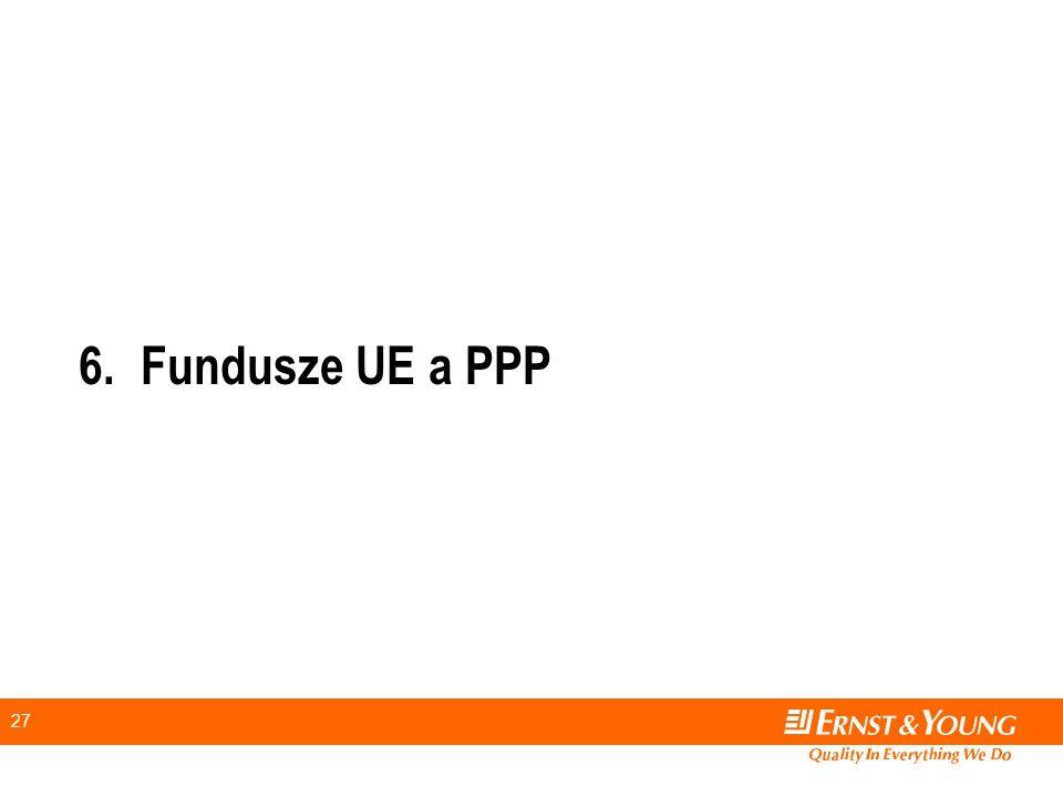 27 6.Fundusze UE a PPP