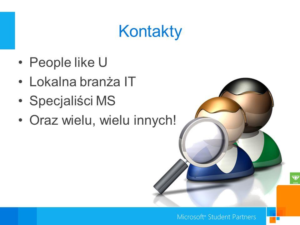 Kontakty People like U Lokalna branża IT Specjaliści MS Oraz wielu, wielu innych!