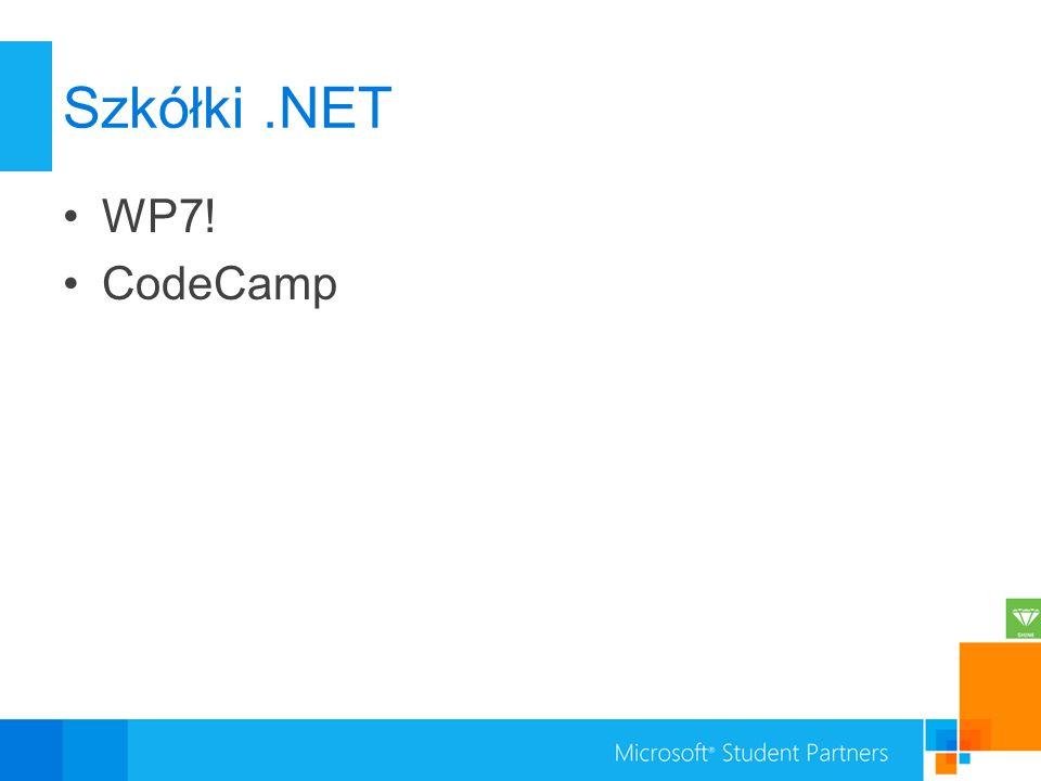 Szkółki.NET WP7! CodeCamp