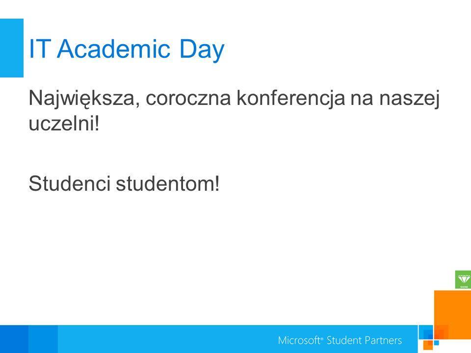 IT Academic Day Największa, coroczna konferencja na naszej uczelni! Studenci studentom!