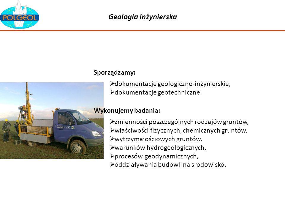 Geologia inżynierska dokumentacje geologiczno-inżynierskie, dokumentacje geotechniczne. Sporządzamy: zmienności poszczególnych rodzajów gruntów, właśc