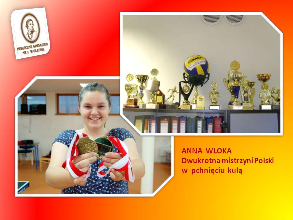 ANNA WLOKA Dwukrotna mistrzyni Polski w pchnięciu kulą