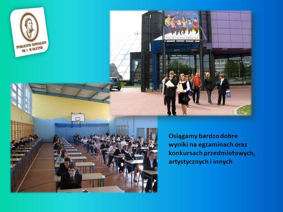 Osiągamy bardzo dobre wyniki na egzaminach oraz konkursach przedmiotowych, artystycznych i innych