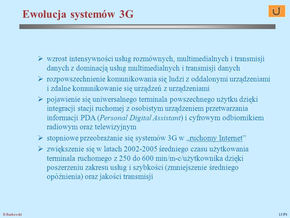 D.Rutkowski13/PS wzrost intensywności usług rozmównych, multimedialnych i transmisji danych z dominacją usług multimedialnych i transmisji danych rozp