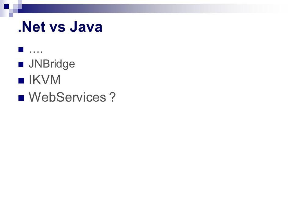 .Net vs Java …. JNBridge IKVM WebServices ?