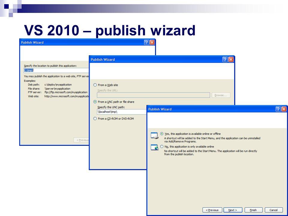 VS 2010 – publish wizard