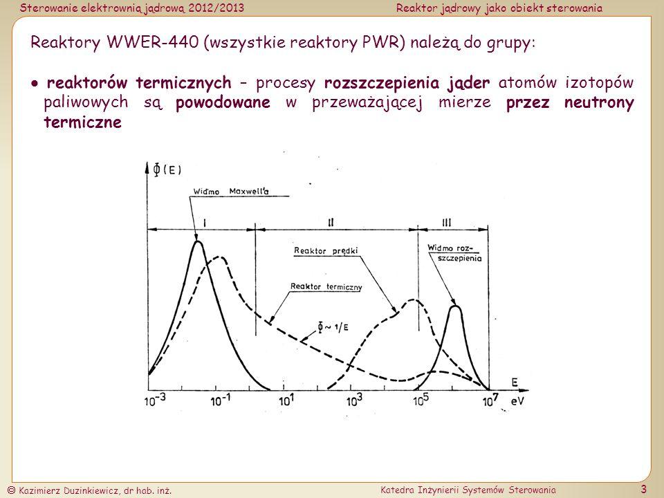Sterowanie elektrownią jądrową 2012/2013Reaktor jądrowy jako obiekt sterowania Kazimierz Duzinkiewicz, dr hab.