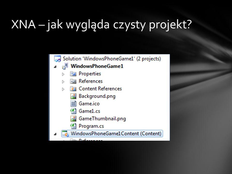 XNA – jak wygląda czysty projekt?