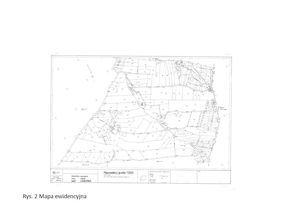 Rys. 2 Mapa ewidencyjna