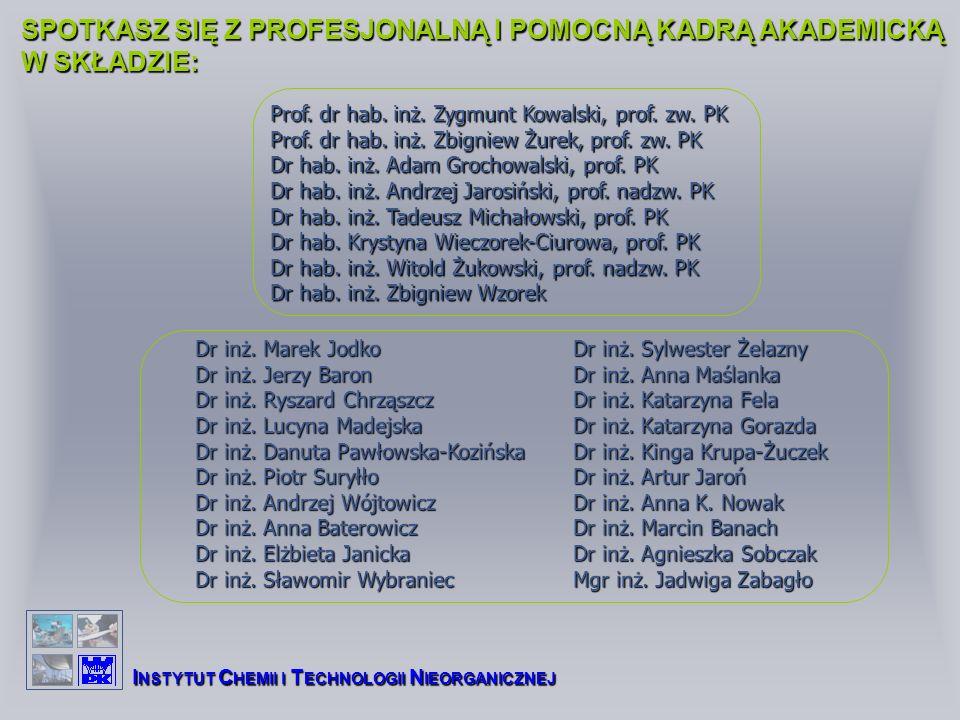 SPOTKASZ SIĘ Z PROFESJONALNĄ I POMOCNĄ KADRĄ AKADEMICKĄ W SKŁADZIE: Prof.