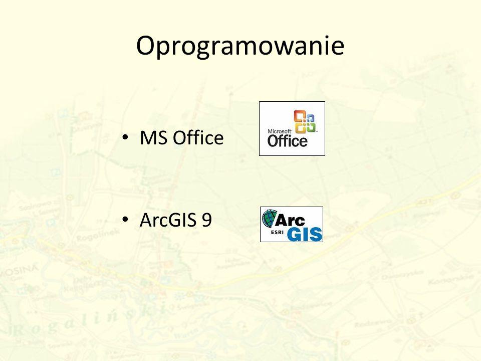 Oprogramowanie MS Office ArcGIS 9