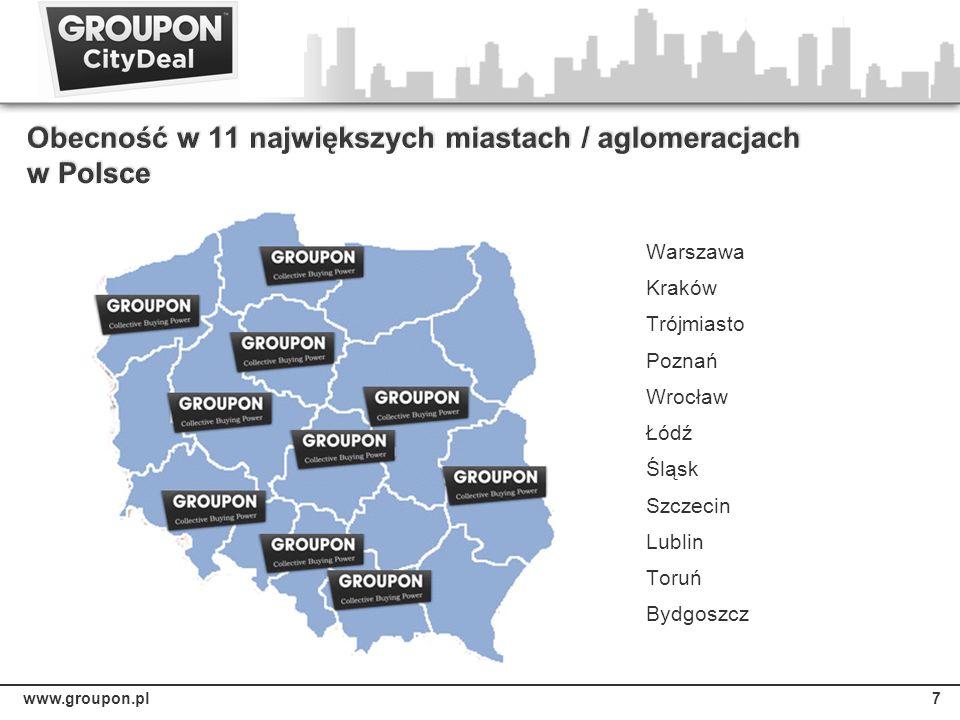 7 Warszawa Kraków Trójmiasto Poznań Wrocław Łódź Śląsk Szczecin Lublin Toruń Bydgoszcz