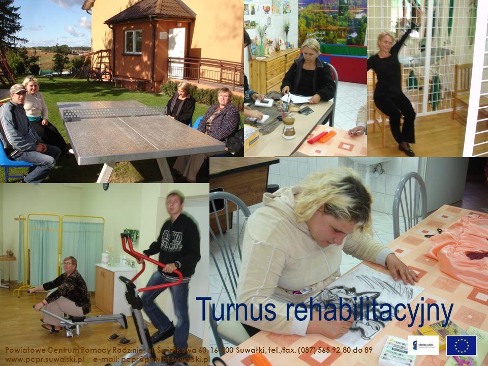 Turnus rehabilitacyjny Powiatowe Centrum Pomocy Rodzinie; ul. Świerkowa 60, 16-400 Suwałki, tel./fax. (087) 565 92 80 do 89 www.pcpr.suwalski.pl e-mai