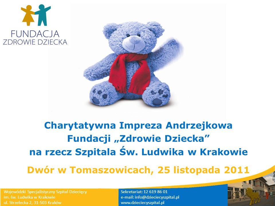 Charytatywna Impreza Andrzejkowa Fundacji Zdrowie Dziecka na rzecz Szpitala Św. Ludwika w Krakowie Dwór w Tomaszowicach, 25 listopada 2011 Wojewódzki