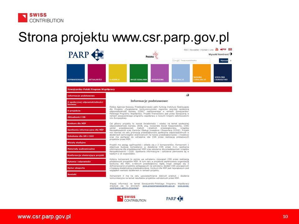 Dziękuję za uwagę Małgorzata Jelińska PROJEKT FINANSOWANY PRZEZ SZWAJCARIĘ W RAMACH SZWAJCARSKIEGO PROGRAMU WSPÓŁPRACY Z NOWYMI KRAJAMI CZŁONKOWSKIMI UNII EUROPEJSKIEJ Polska Agencja Rozwoju Przedsiębiorczości ul.