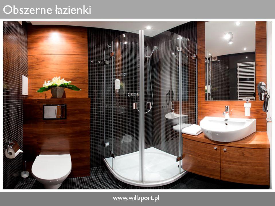 www.willaport.pl Obszerne łazienki