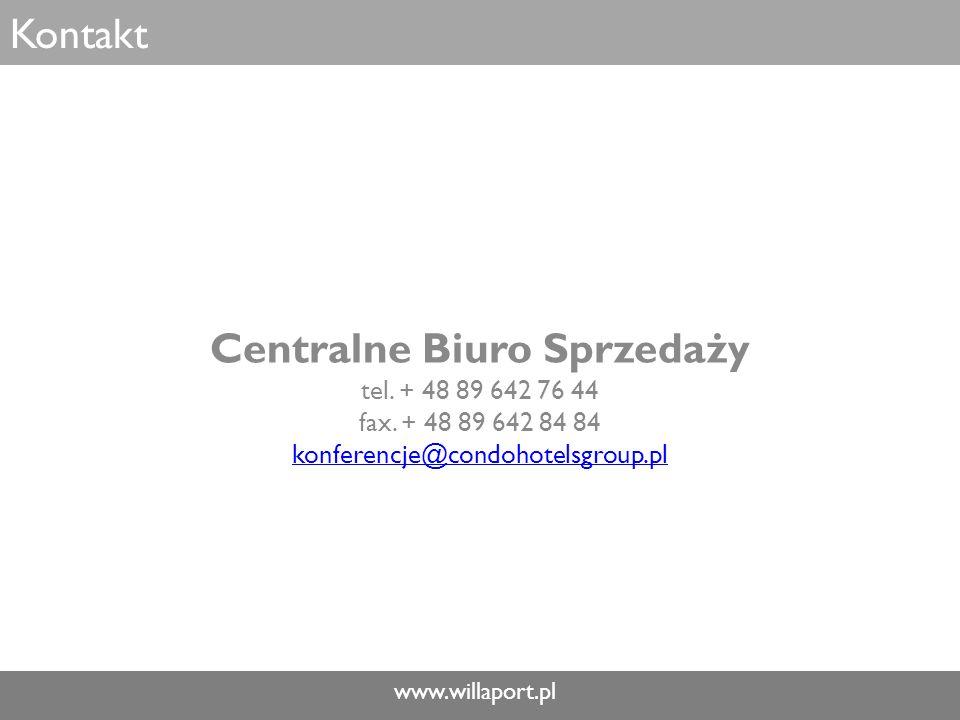 www.willaport.pl Kontakt Centralne Biuro Sprzedaży tel.