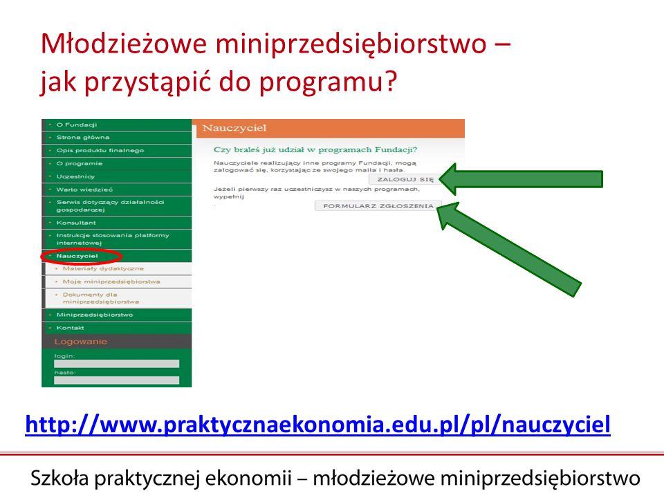 Młodzieżowe miniprzedsiębiorstwo – jak przystąpić do programu? http://www.praktycznaekonomia.edu.pl/pl/nauczyciel