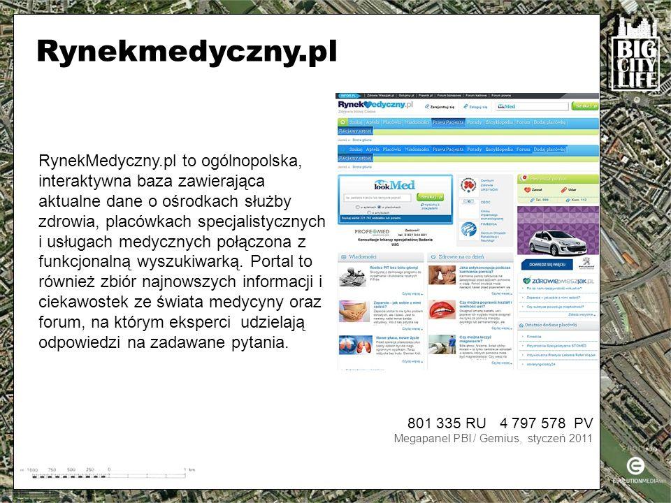 RynekMedyczny.pl to ogólnopolska, interaktywna baza zawierająca aktualne dane o ośrodkach służby zdrowia, placówkach specjalistycznych i usługach medycznych połączona z funkcjonalną wyszukiwarką.