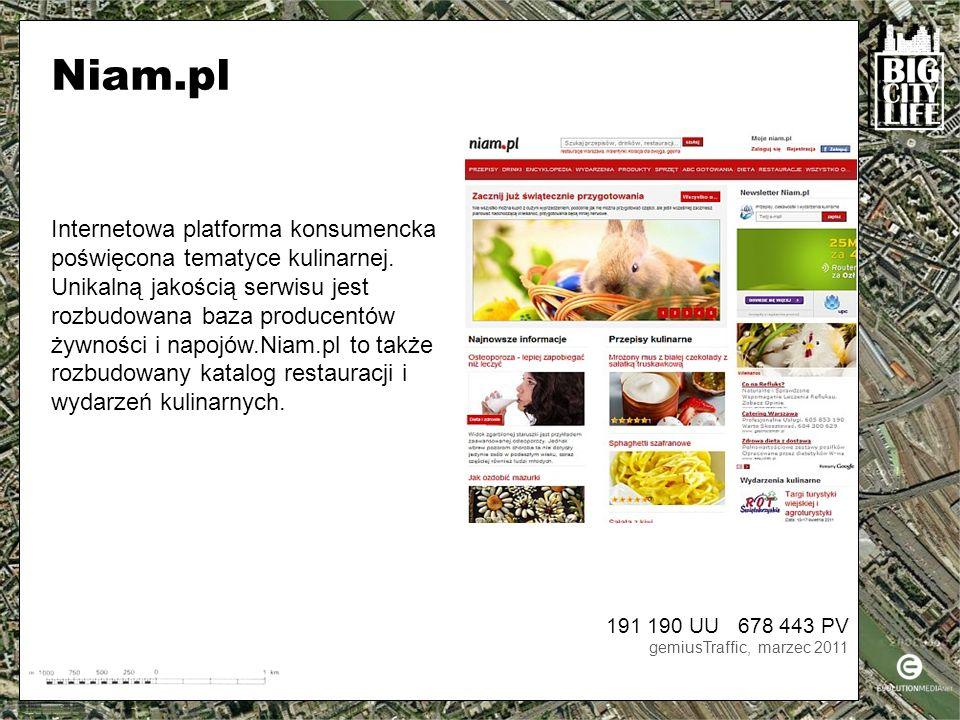 Internetowa platforma konsumencka poświęcona tematyce kulinarnej.