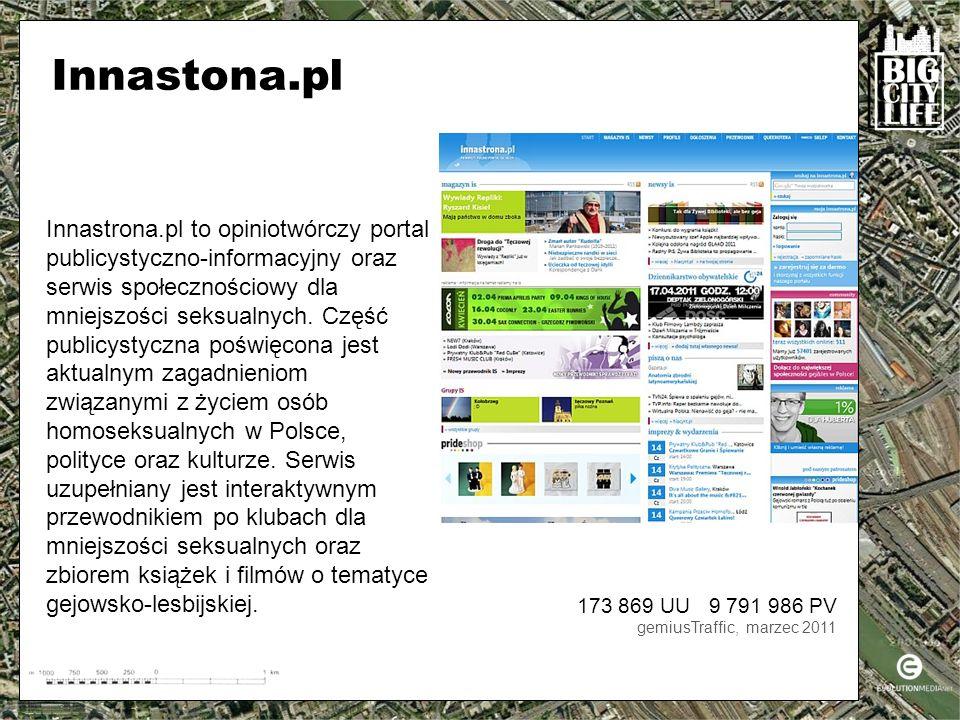 Innastrona.pl to opiniotwórczy portal publicystyczno-informacyjny oraz serwis społecznościowy dla mniejszości seksualnych.