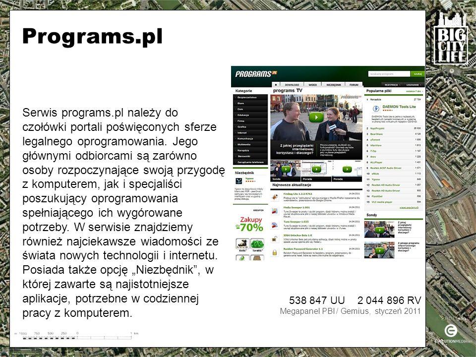 Serwis programs.pl należy do czołówki portali poświęconych sferze legalnego oprogramowania.