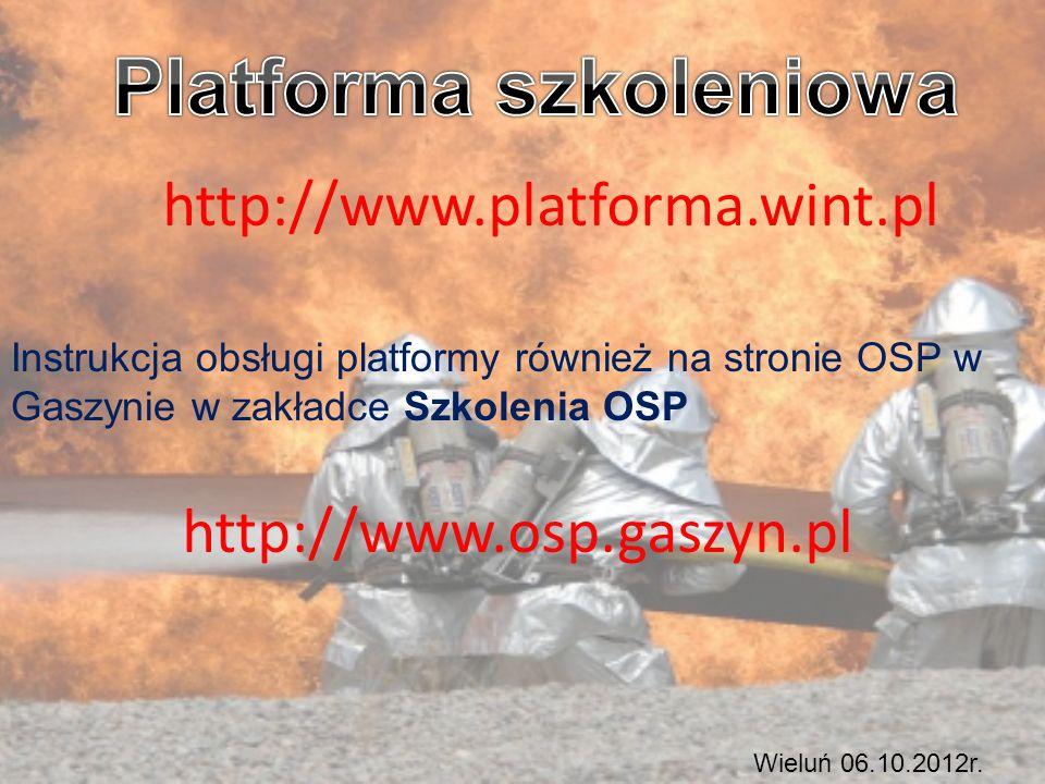 http://www.platforma.wint.pl Wieluń 06.10.2012r.