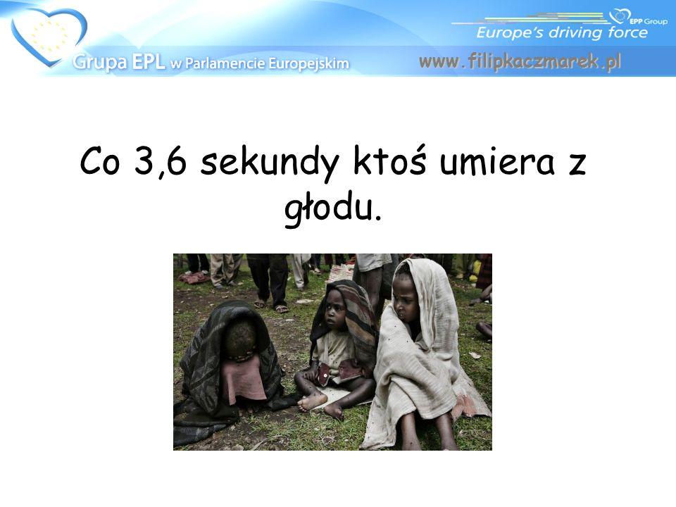 Co 3,6 sekundy ktoś umiera z głodu. www.filipkaczmarek.pl