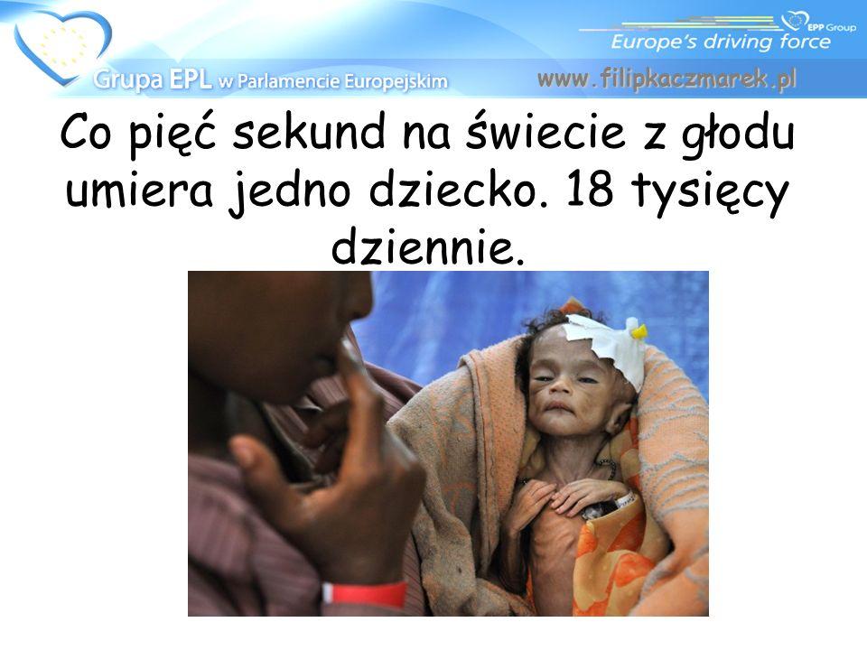 Co pięć sekund na świecie z głodu umiera jedno dziecko. 18 tysięcy dziennie. www.filipkaczmarek.pl
