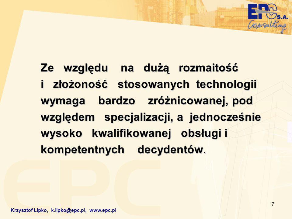 18 Krzysztof Lipko, k.lipko@epc.pl, www.epc.pl