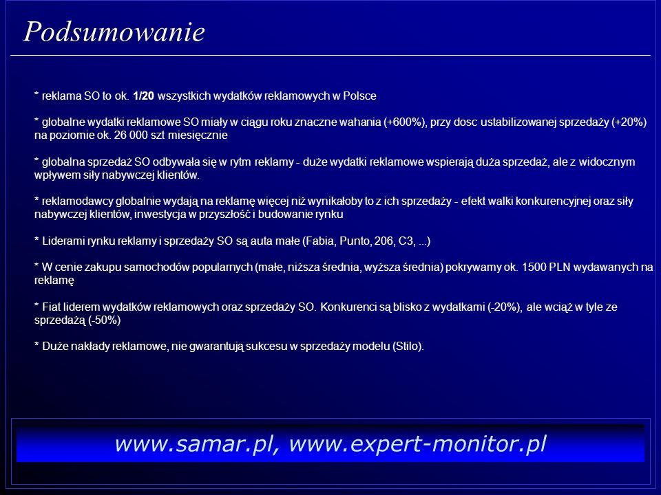 www.samar.pl, www.expert-monitor.pl Dziękujemy za uwagę Wojciech Drzewiecki (SAMAR), Robert Siadak (Expert-Monitor)