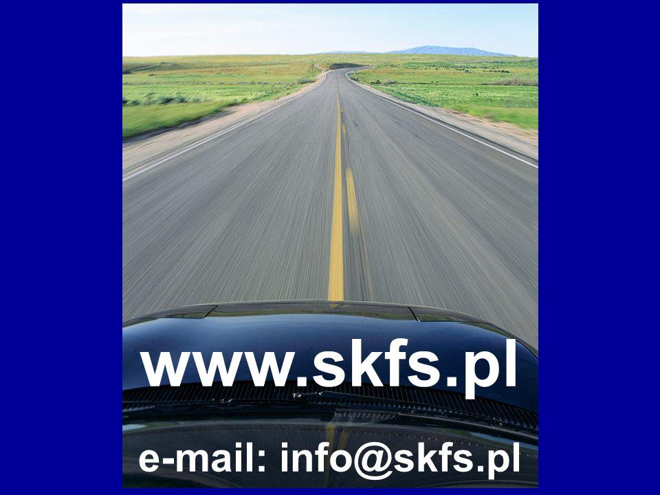 STOWARZYSZENIE KIEROWNIKÓW FLOT SAMOCHODOWYCH Dziękujemy i zapraszamy do współpracy www.skfs.pl e-mail: info@skfs.pl
