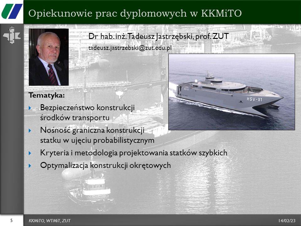 14/02/23 Dr hab.inż. Tadeusz Jastrzębski, prof.