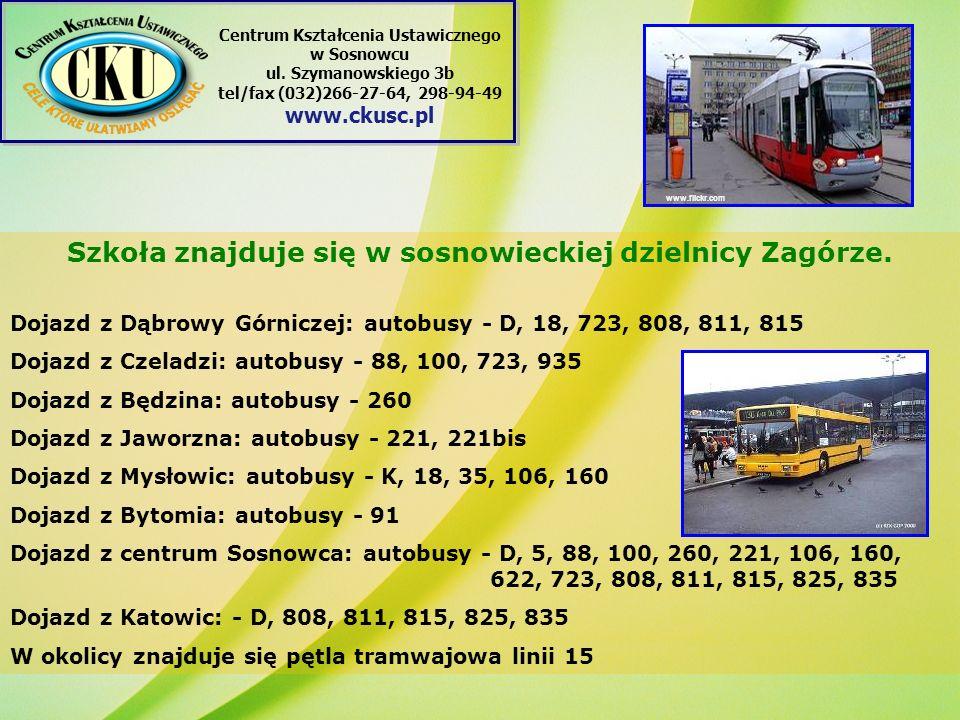 Szkoła znajduje się w sosnowieckiej dzielnicy Zagórze.