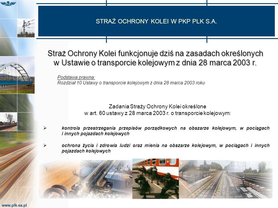 www.plk-sa.pl Listopad 1918 roku Listopad 1918 roku Powołanej na wzór wojskowy Straży Kolejowej wyznaczono niezwykle odpowiedzialne zadanie: Uroczysty akt promowania oficerów SOK przez gen.